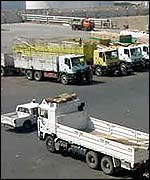Lorries at Port of Djibouti