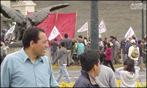 A demonstration in Lima
