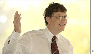 A smiling Bill Gates