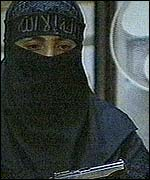 A woman member of the rebel group