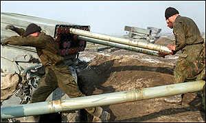 российские солдаты в Чечне.
