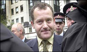 Paul Burrell leaves the Old Bailey