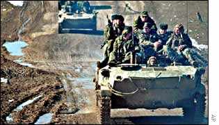 Russian military convoy in Chechnya