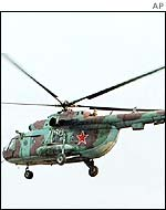 Russian Mi-8 helicopter - the same model as the one that was shot down