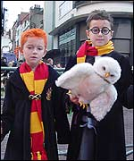 Harry Potter fans Jack King, six (left) and brother Andrew, 10