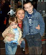 Patsy Kensit with sons Lennon (left) and James