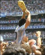 Diego Maradona won the World Cup for Argentina in 1986