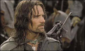 Viggo Mortensen as Strider in The Lord of the Rings
