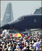 Crowds at an air show
