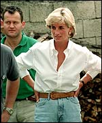 Princess Diana with Paul Burrell
