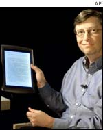Bill Gates with tablet PC