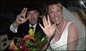 Daniel O'Donnell with new bride Majella