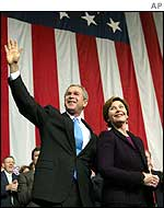 President George Bush and First Lady Laura