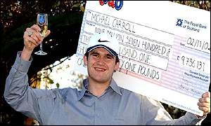 Lottery winner Michael Carroll