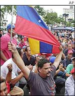 Supporters of President Hugo Chavez