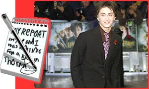 Daniel Radcliffe arrives for the premier
