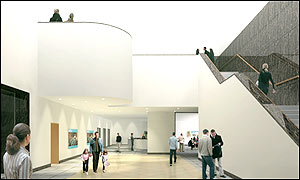 A virtual view of the proposed east wing atrium at the National Gallery