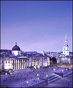 A virtual impression of the redesigned Trafalgar Square