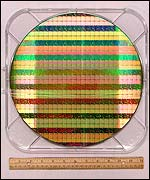 Close up of the wafer-thin chip