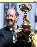 Dermot Weld celebrates a second Melbourne Cup success