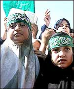 Young Hamas supporters