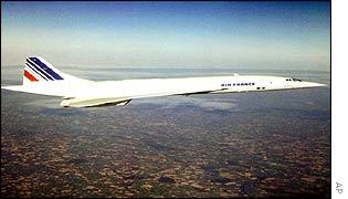 Concorde en vuelo