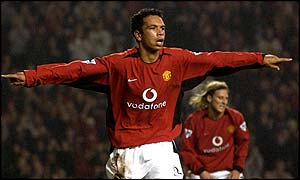 Manchester United youngster Kieran Richardson