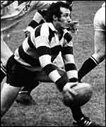 Gareth Edwards in action for the Barbarians
