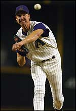 Arizona Diamondbacks pitcher Randy Johnson