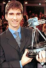 Damon Hill with the BBC award