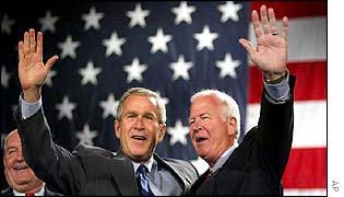 Saxby Chambliss with President Bush