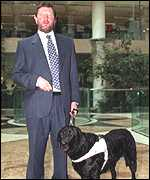 David Blunkett and his guide dog Lucy