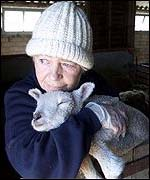 Moria Linaker with Harry as a lamb