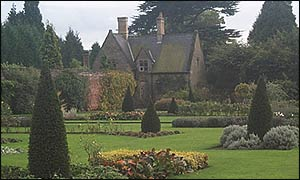 The Rose Garden is part of the 333-acre park that surrounds the abbey