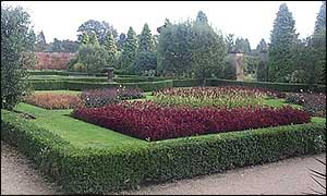 formal gardens at Newstead Abbey