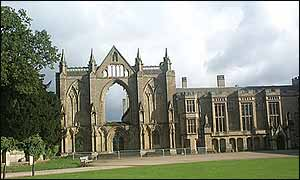 west front of Newstead Abbey
