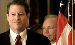 Al Gore and Joseph Lieberman