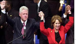 Bill Clinton joins Kathleen Kennedy Townsend at a campaign event