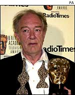 Michael Gambon pictured at the Baftas