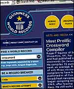 Guinness Book of Records website