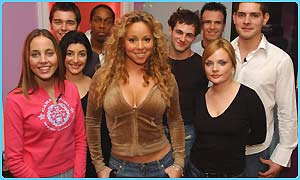 Mariah Carey with the Fame Academt students