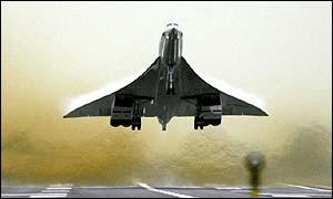 Concorde despegando