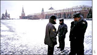 Police patrols Red Square