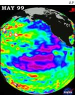 Satellite picture of El Nino