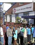 Zimbabweans queue to buy bread