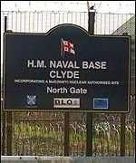 Faslane base sign
