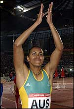 Australian athlete Cathy Freeman