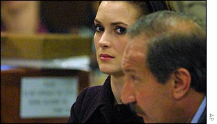 Winona Ryder and her lawyer Mark Geragos