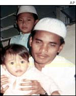 Family photo of Amrozi (centre) from Indonesian daily Surya
