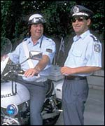 Greek police in Athens